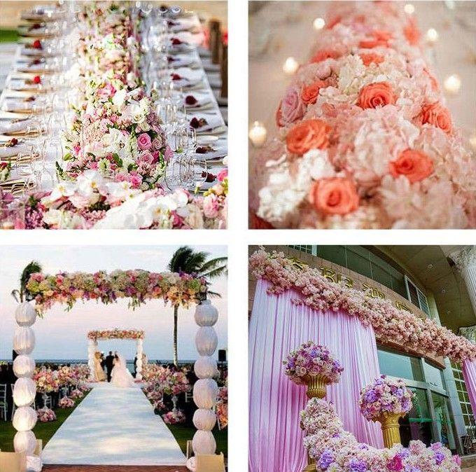 flower wedding Road lead flowers long table centerpieces flower Arch door lintel silk rose wedding party backdrops decoration