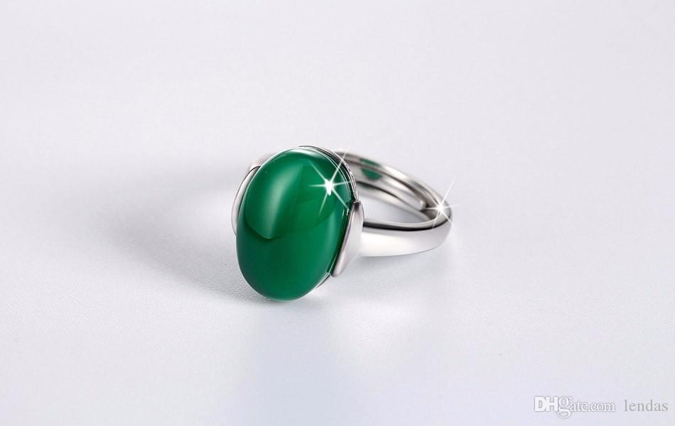 for cubic product emerald jewelry new silver women stone rings sterling simple fashion ring green