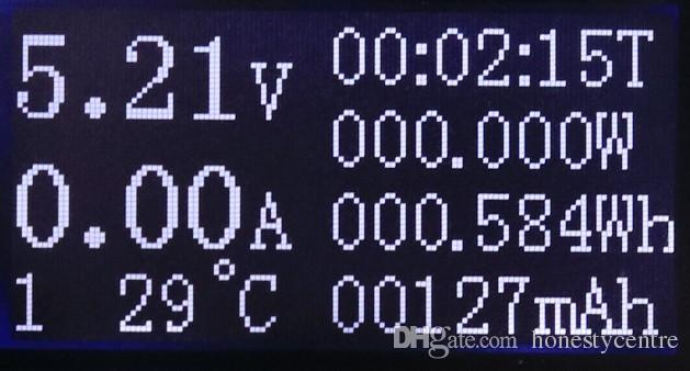 Por dhl / fedex 50 pçs / lote QC2.0 rápido carregador USB tester 4 ~ 30 V Voltímetro capacidade de tensão atual Banco De Potência Da bateria detector