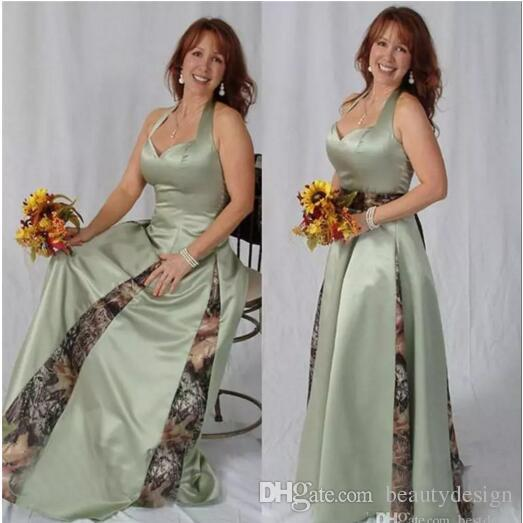 9392dd8340c86 Vintage 2017 A Line Long Satin Mother Of The Bride Groom Dresses With Camo  Satin Sheer Fashion Pleated Godmother Dresses Plus Size Mother Of The Groom  ...