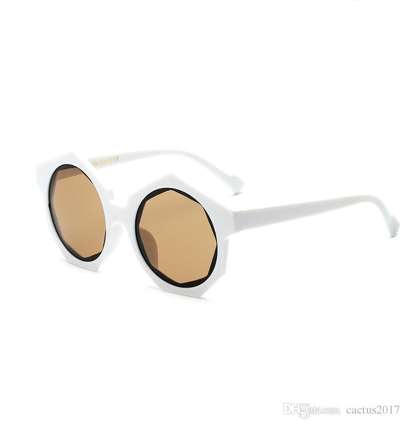 Compre Marco Completo Gafas De Sol Del Hexágono Mujeres Mens ...
