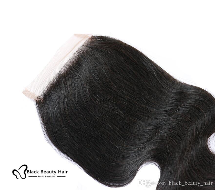 Закрытие шнурка человеческих волос девственницы Бразилии перуанские малайзийские индийские камбоджийские монгольские объемная волна прямые свободные глубокие закрытия завитка Джерри