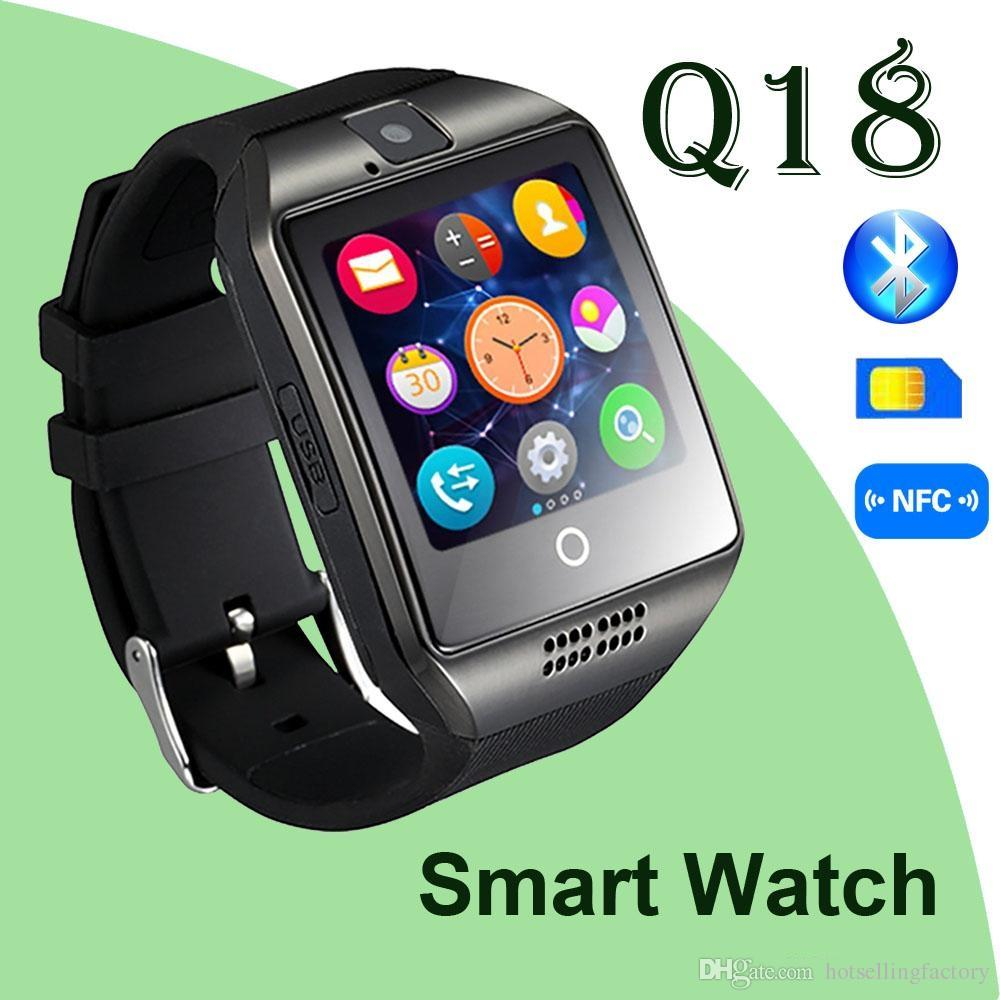 2017 Bluetooth Smart Watch Q18 Smartwatch Support facebook SIM Card GSM  camera for Android/ios phone Smart Phone Good Quality