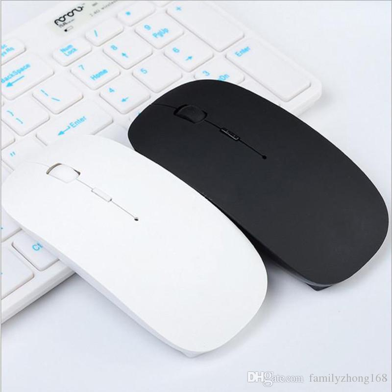 2.4G Wireless Optical Mouse Mice Ultra-thin Mouse USB Receiver ultrathin Slim Mouse for Laptop Notebook PC Desktop Computer