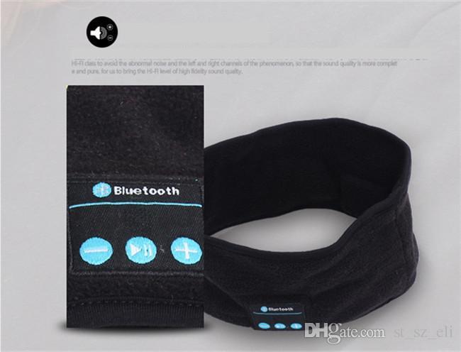 Bluetooth Music Phone Sport Sweatband Sweat Band för cykling Ridning Yoga Headband Headband Hair Band vs Bluetooth Hat