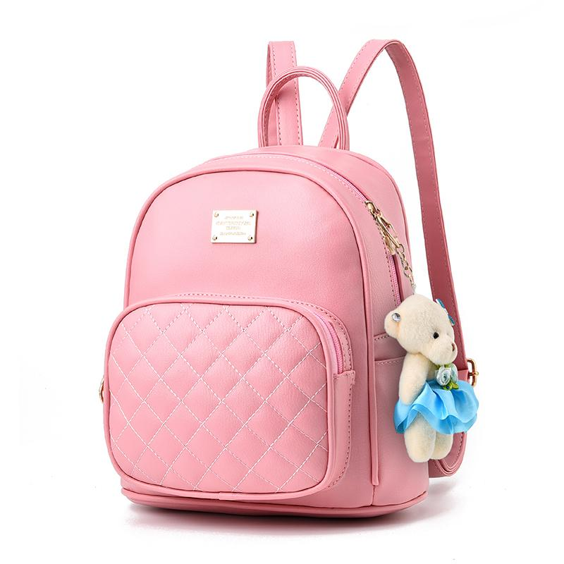 New Tide Female Backpack Spring Summer Students Fashion Casual Korean Women  Schoolbag Cute High Quality Leather Teenage Girls Army Backpack Water  Backpack ... 018e8fe5cd