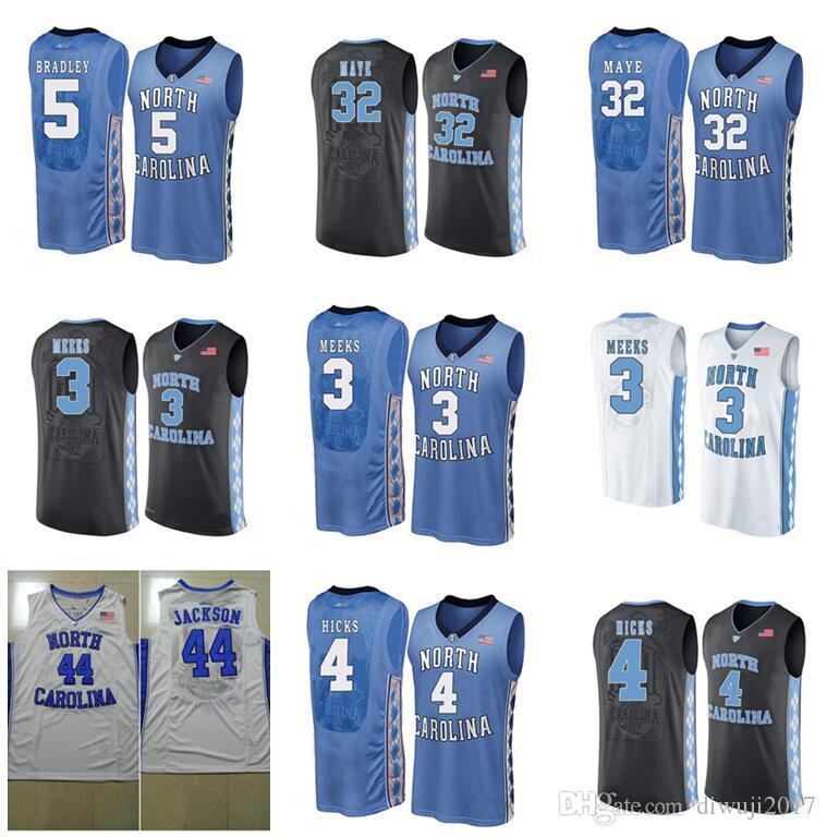pretty nice 40743 77bf7 # 4 Isaiah Hicks Carolina del Norte # 3 Kennedy Meeks # 1 Theo Pinson # 44  Justin Jackson # 5 Tony Bradley # 2 Joel Berry II Jerseys