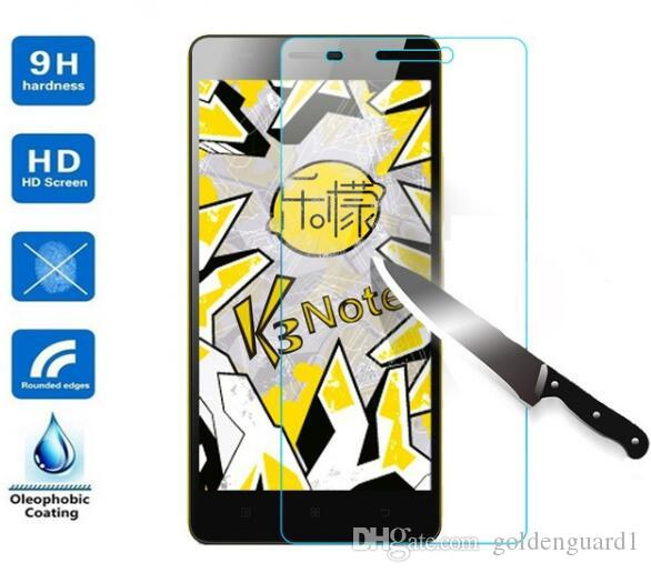 tempered glass for lenovo k3 note k4 k5 note k5 plus k6 note k6 power k8 0.3mm Tempered Glass Screen Protector 9H 2.5D With Retail Package