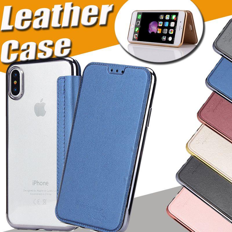b2f650f36cc Carcasa Personalizada Híbrido Slim Folio Flip Tpu Cubierta De Cuero Funda  De Carcasa De Cuerpo Entero Con Ranuras Para Tarjetas Para Iphone X 8 7 Plus  6 6s ...