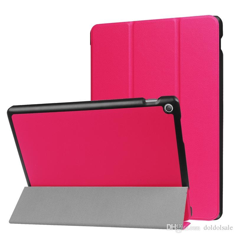 Ultra Slim Tri-Fold PU Leather Case Stand Cover for Asus Zenpad 10 Z301MFL Z301ML Z301 10.1 inch Tablet + Stylus Pen