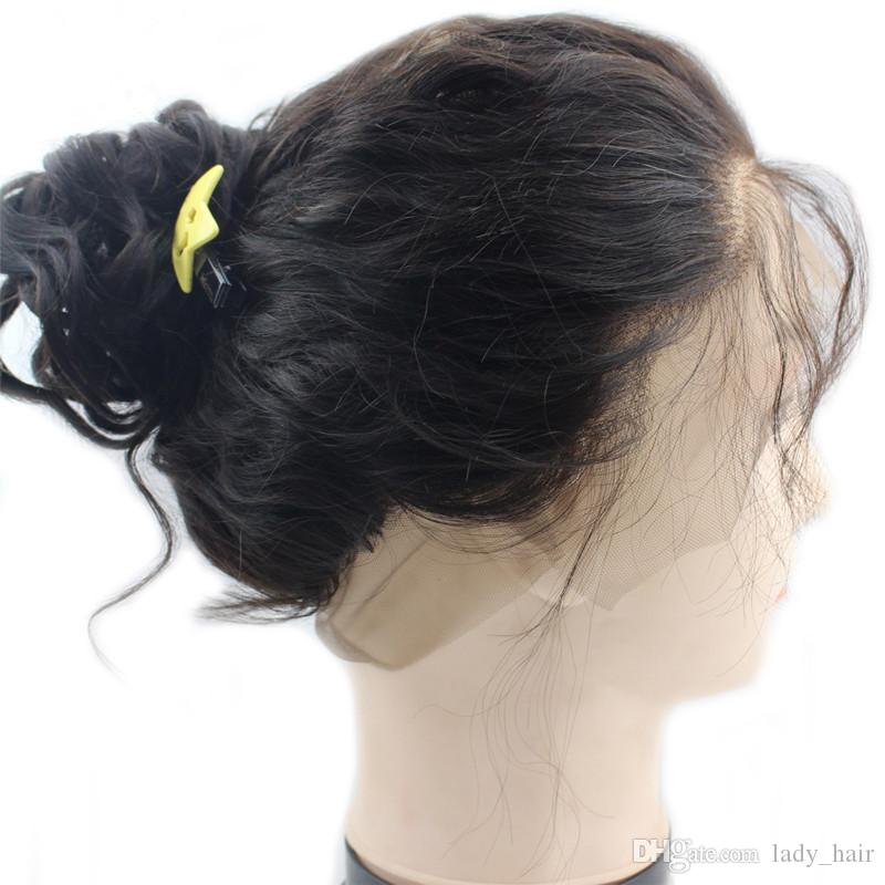 젖은 및 물결 모양의 360 전체 레이스 정면 페루 인간의 머리카락 웨이브 버진 헤어 위브 번들 레이스 정면 360 밴드 마감