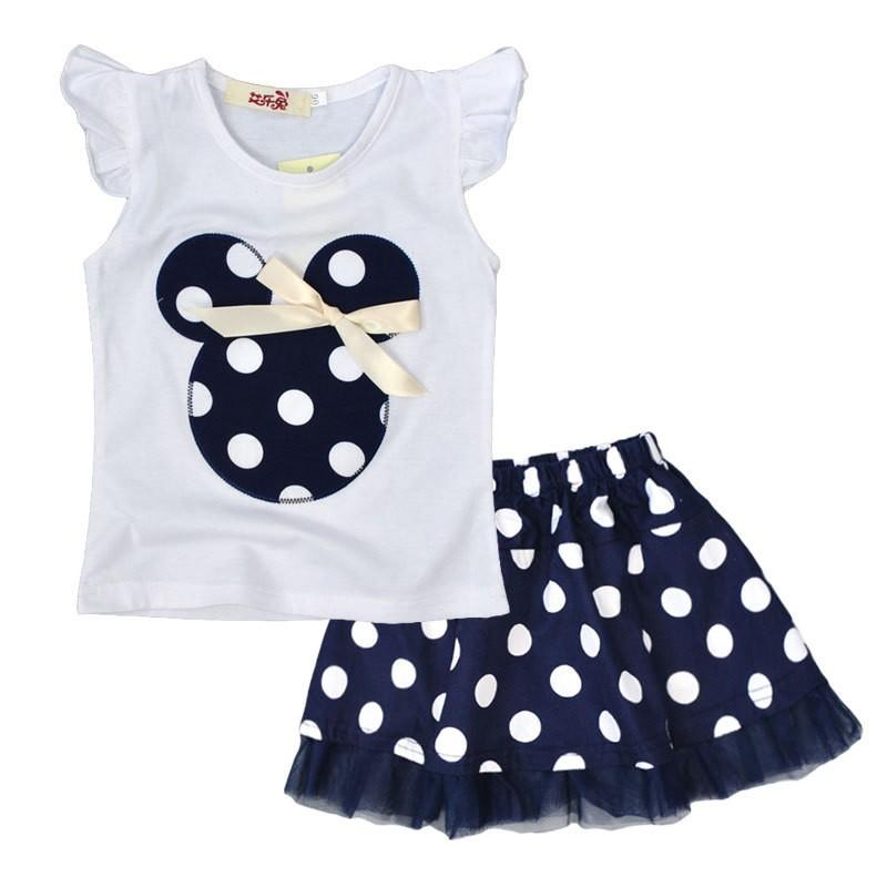 f33f6bd2dbb 2019 Wholesale 1 4Y Summer Baby Kid Girls Princess Clothes Cartoon Party  Mini Dress Ball Gown Dress Lace+Cotton Material Shirt + Skirt From  Wonderfulss