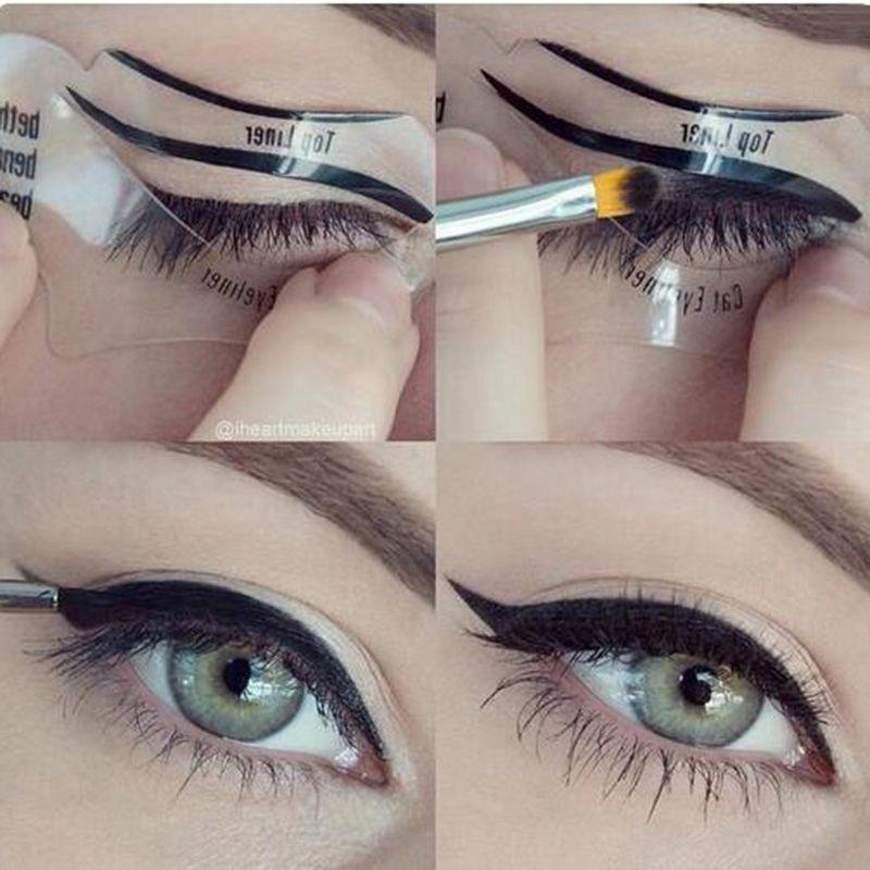 Cat Eye & Smokey Eye Makeup Eyeliner Stencil 2 Sides Repeatable ...
