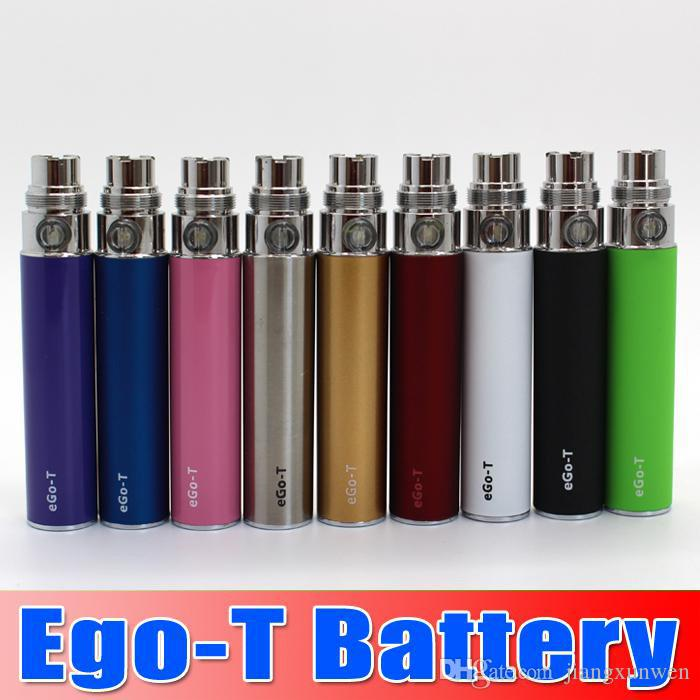 Ego-t Battery 650 900 1100 mah Electronic Cigarette E cig Ego Batteries match CE4 CE5 clearomizer 510 thread battery vs EVOD Twist vision