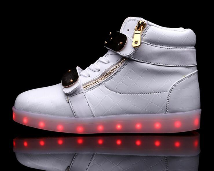 discount explore genuine New hot Led shoes light FlashingShoes with USB Charge Unisex Fluorescent Couple Shoes Running Snakers Sport Casual Shoes for Childrens lFzqW