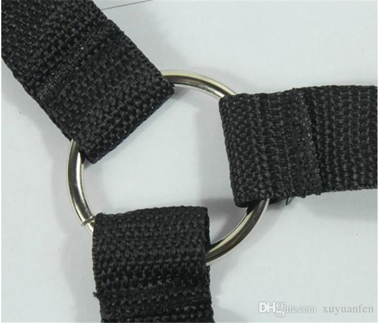 Bett Bondage Produkt Set Erwachsene Spiele Spielzeug Set Handschellen Fußschellen Peitsche Seil Augenbinde Paare Erotikspielzeug String SM Spielzeug einstellen können