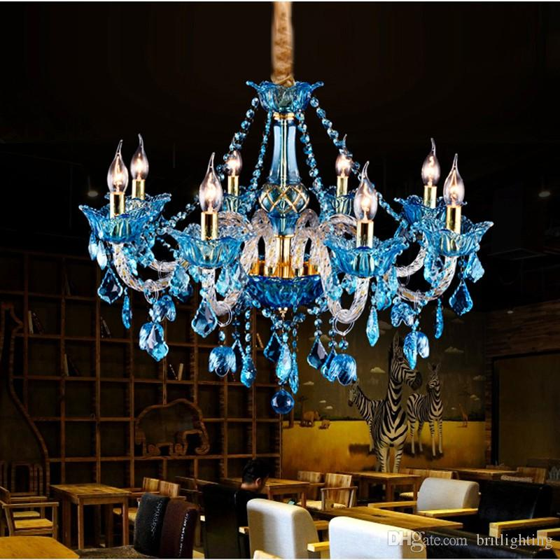 Led crystal chandelier modern water blue crystal chandelier lamp led crystal chandelier modern water blue crystal chandelier lamp dining room light glass arm wedding luxury living room kitchen pendant lamp chandelier with aloadofball Images