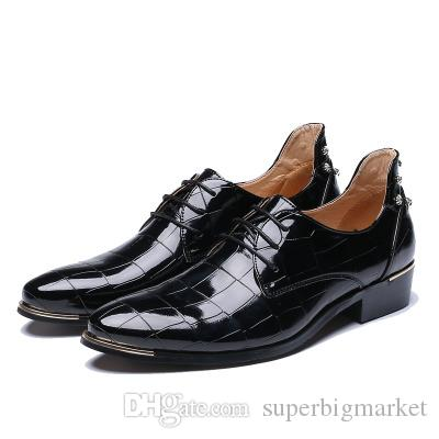 The fall of men's fashion trend of Korean sharp scalp hair stylist marriage increased Mens Casual Shoes