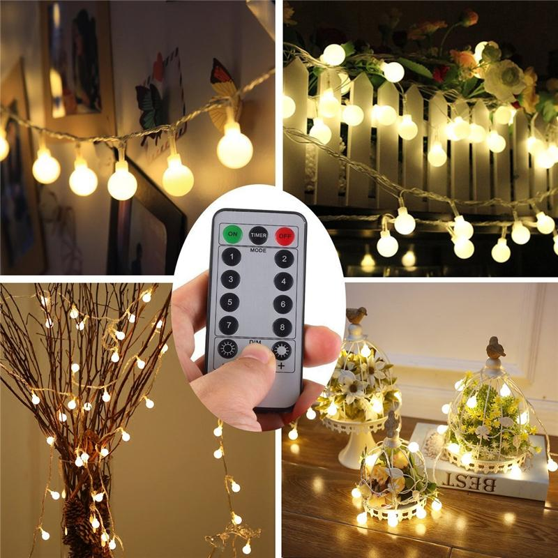 5m 50 led ball string lights battery powered christmas light patio lights lighting for home garden lawn party decoration c9 string lights led string