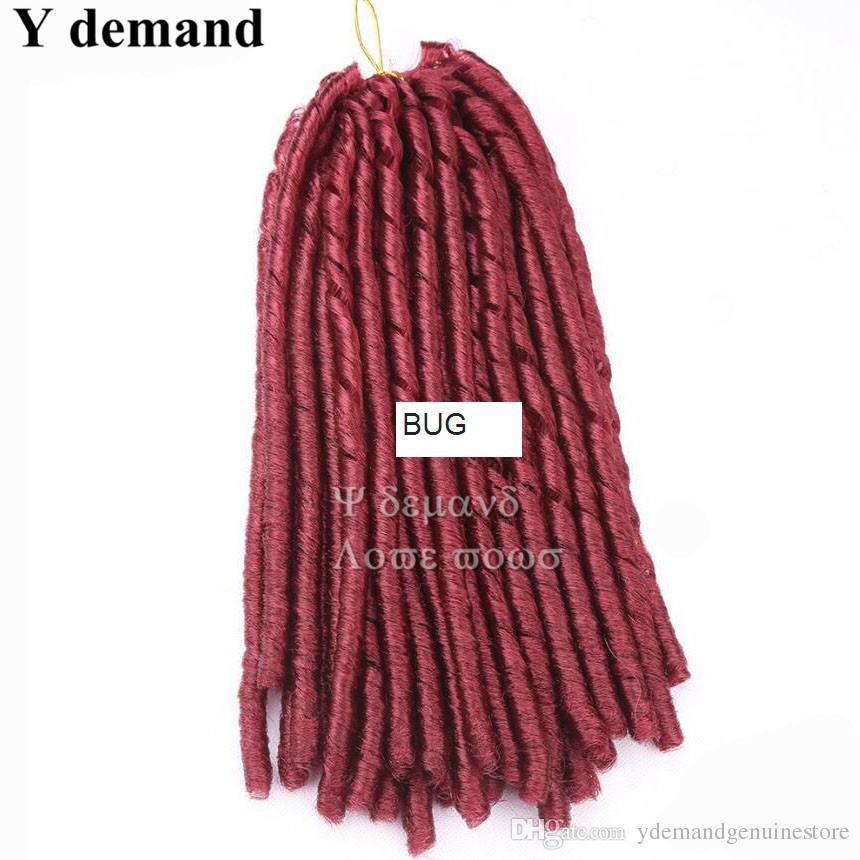18 pulgadas 24 raíces Suave Dreadlocs Faux Locs Crochet Hair Trenzas Havana Mambo Twist Crochet Trenza de pelo Extensiones de cabello Tejido sintético