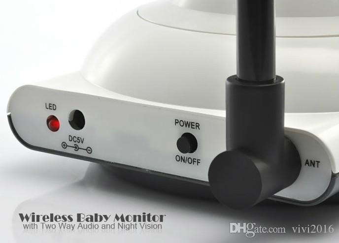 2,4 pouces LCD sans fil numérique moniteur bébé IR vidéo audio interphone caméra vision nocturne vidéo électronique bébé surveille la sécurité à la maison