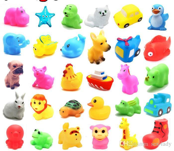 Baby Bath Toys Water Floating Dolls Animal Cartoon Yellow Ducks Starfish  Children Swiming Beach Rubber Toy Kids Gifts Fast Shipping Stress Head Toy  Hand ...