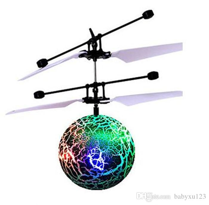 Modern RC Toy Epoch Air RC Flying Ball RC Drone Helicopter Ball Shinning LED Lighting Toy for Kids Teenagers Y082