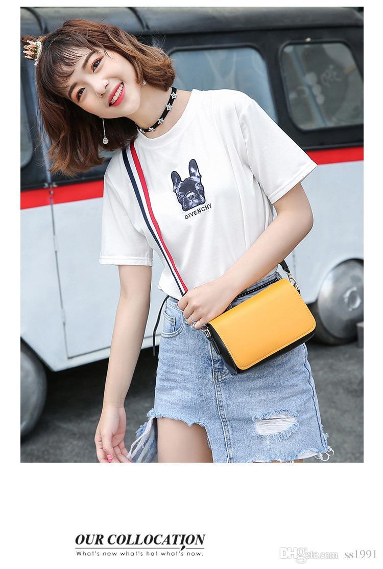 2017 Sommer neue Flut Paket Hafen Wind breiten Schultergurt Messenger Tasche Paket Harajuku Wind Umhängetasche einfache kleine quadratische Tasche 170620
