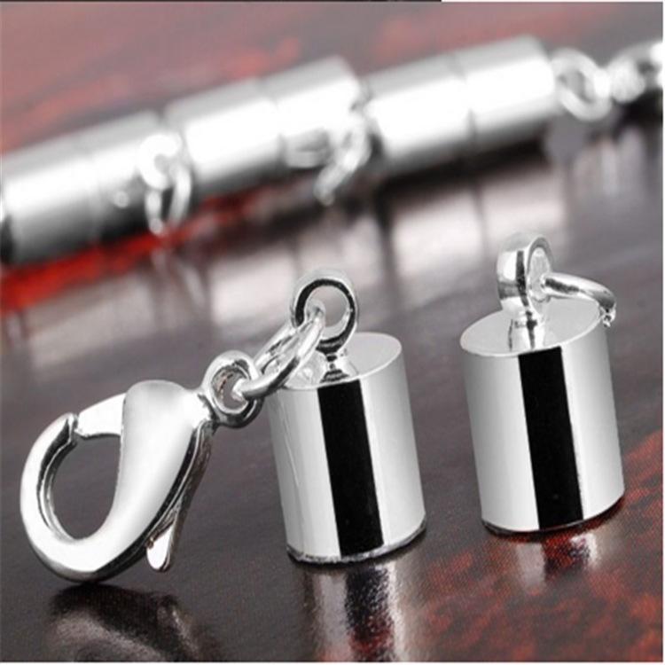 Catenacci collana magneti magnetici placcati argento / oro Catenacci a forma di cilindro bracciale collana Gioielli fai da te