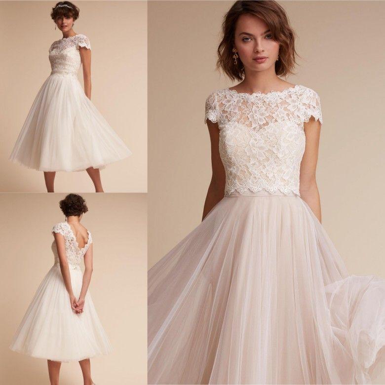 2018 Knee Length Simple Bridesmaids Dresses A Line Cap