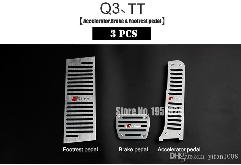 Original design sline Aerospace Aluminum alloy Car brake accelerator pedal for A4 A5 A7 A8 Q5 Q3 Q7 A3 A6 TT