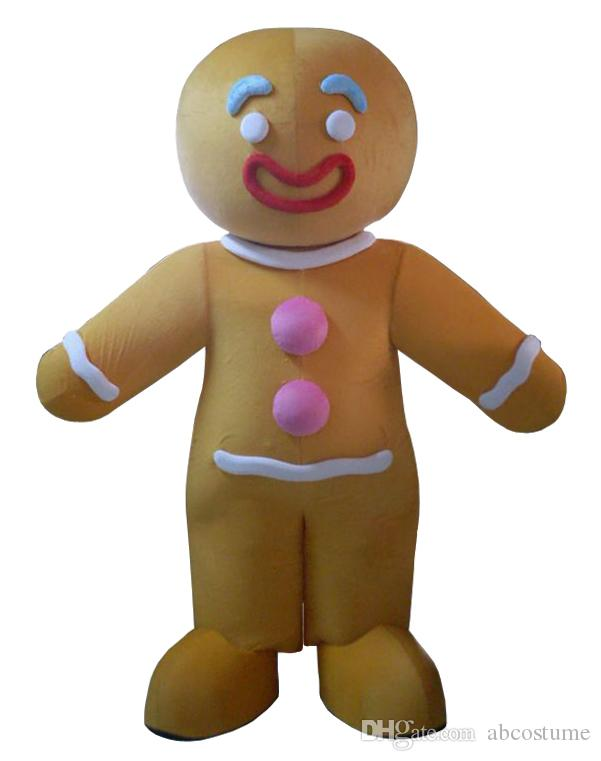 gingerbread man cartoon mascot costume fancy party dress halloween costumes adult size high quality child halloween costumes rabbit costumes from abcostume