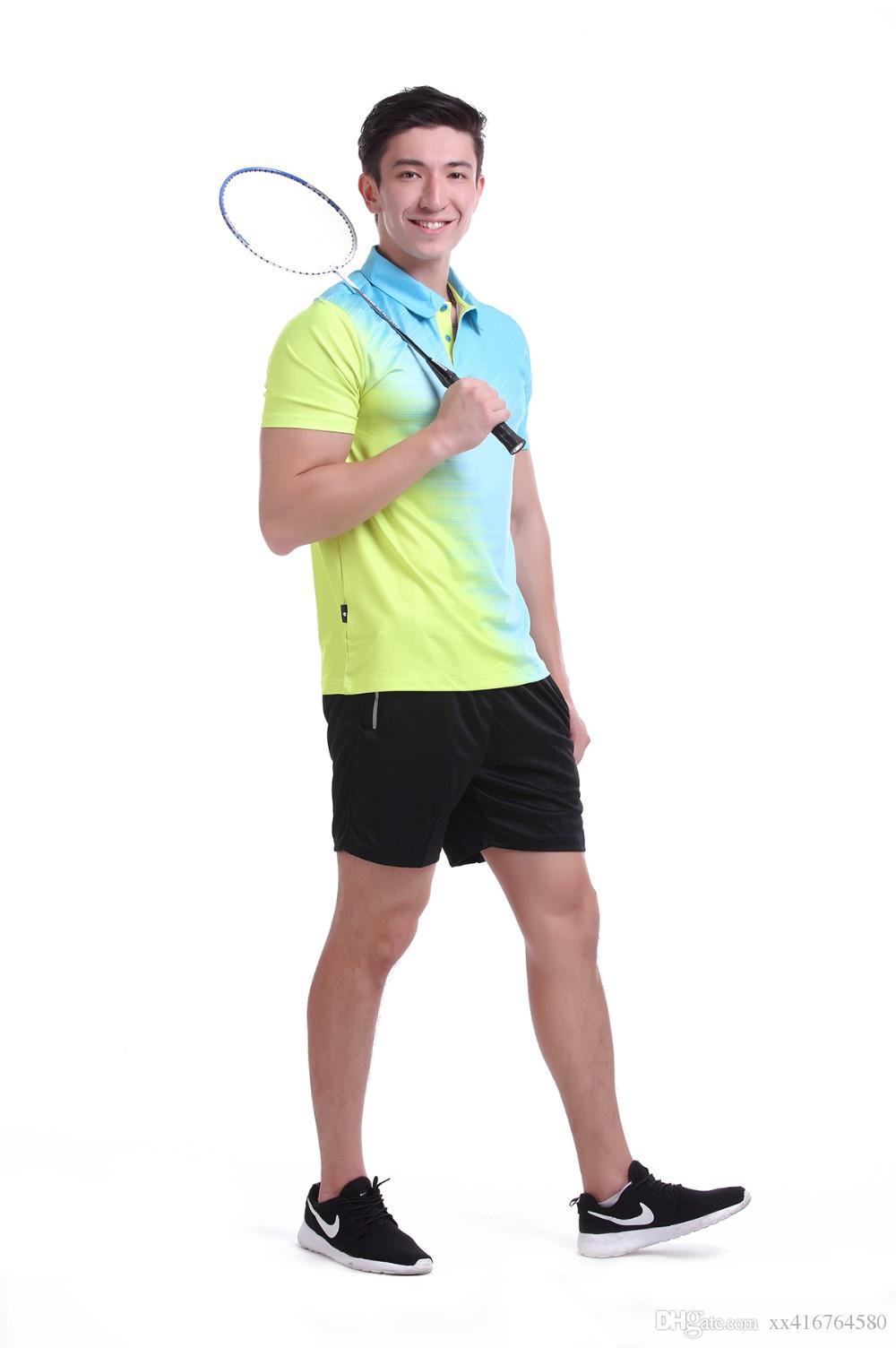 New Sportswear Quick Dry badminton shirt ,Women / Men badminton clothes table tennis shirt table tennis clothes POLO T Shirts