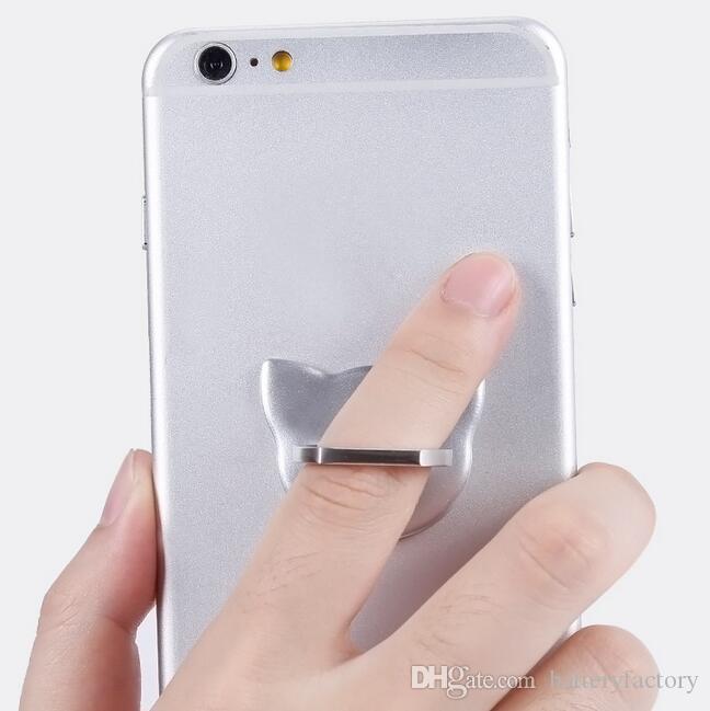 360 Anillo de metal giratorio Soporte para teléfono móvil Soporte de dedo de montaje universal para Samsung Galaxy S7 S8 s8 más soporte para iPhone 6 6 s Plus