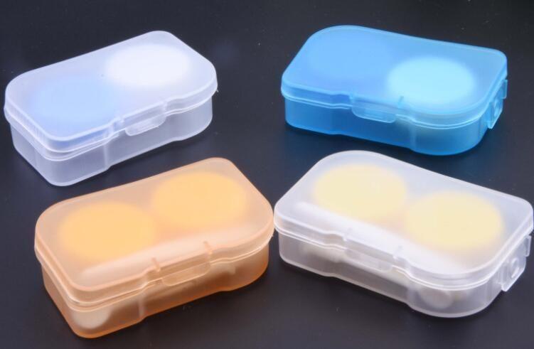 500 takım Asılı delik kontakt lens kutusu ile 4in1 Plastik Companion kutusu Gözlük durumda Cımbız Ile Case kılıf