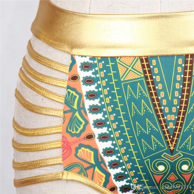 Badeanzug südafrikanischer goldener Halterbikinohoher Taillenbadeanzug zwei Stücke Badebekleidungsfrauen-Badeanzug bathers maillot de Bain