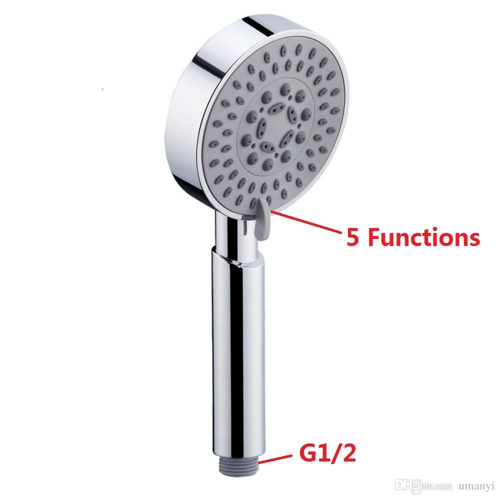 Großhandel Universal 5 Modus Funktionen Chrom Poliert Handheld Badezimmer Duschkopf Wasserhahn Ersatz Regen Duschen Sets SCHJ006
