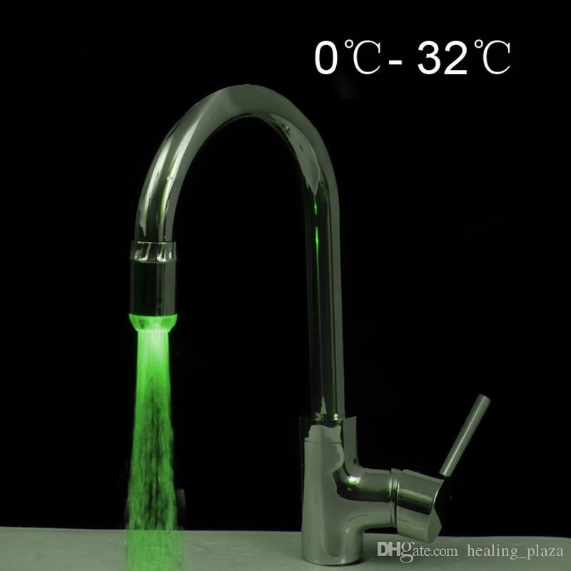 Temperature Sensor Color Change LED Water Tap Faucet Lights RGB ...