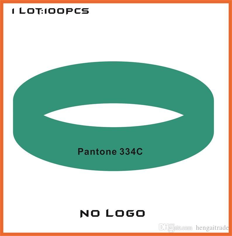 100 unids / lote pulseras de goma de silicona de color personalizado de alta calidad para regalos promocionales B422