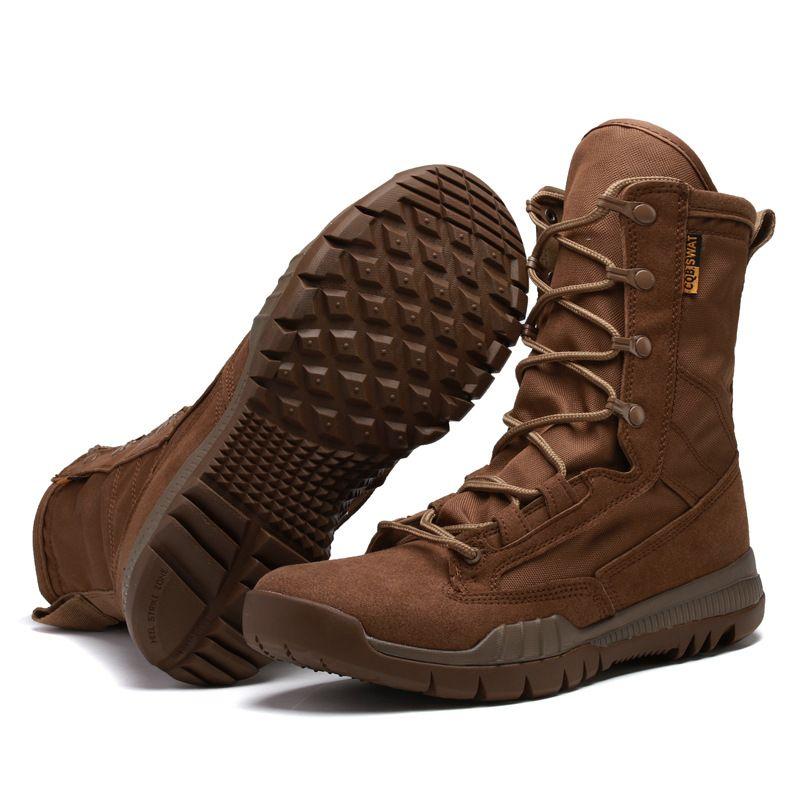 Ultra-légères Forces Spéciales Combat Tactique Bottes Du Désert Chaussures D'escalade Hommes Haut-Breathbale Bottes Armée Chaussures De Sécurité Tactiques