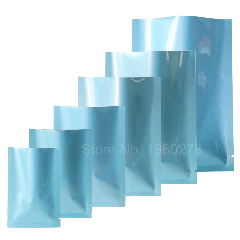 Variety of Sizes Glossy Blue Heat Sealable Sachets Food Storage Bag ...