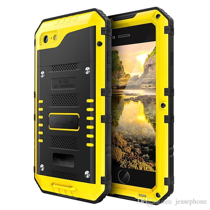 70fdb188066 Accesorio Para Celulares Para Iphone 7 Estuche Estanco De Metal De Aluminio  Armadura Natación A Prueba De Agua Para X 8 / 8Plus Sello A Prueba De  Golpes ...