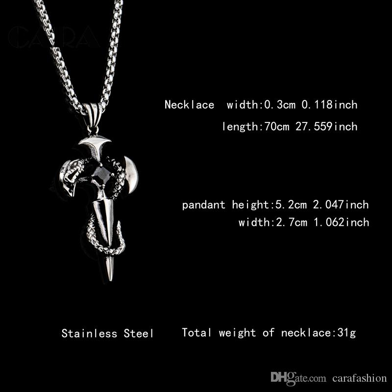 New arrival stylish mens fashion hip hop necklace pendant stainless steel snake&cross rhinestone men and wonmen jewelry necklace CAGF209