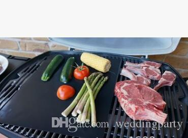 Barbecue Grilling Liner Teflon BBQ Grill Mat Portable Non-stick and Reusable Make Grilling Easy 33*40CM 0.2MM Black Oven Hotplate Mats