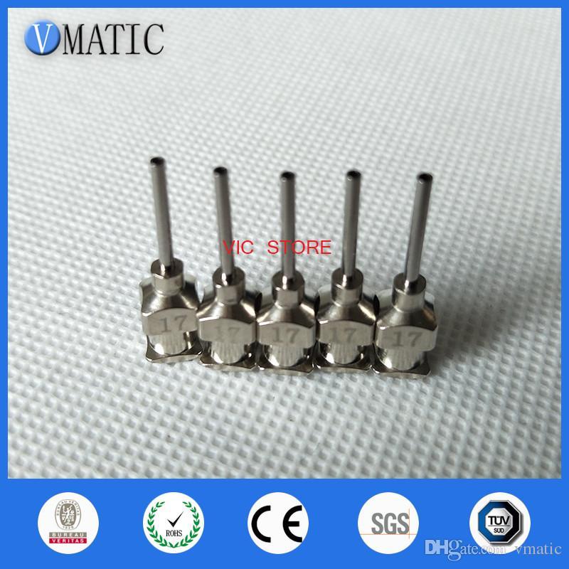 0.5 inch Tip Length 17G All Metal Tips Blunt Stainless Steel Glue Dispensing Needles Syringe Needle Tips