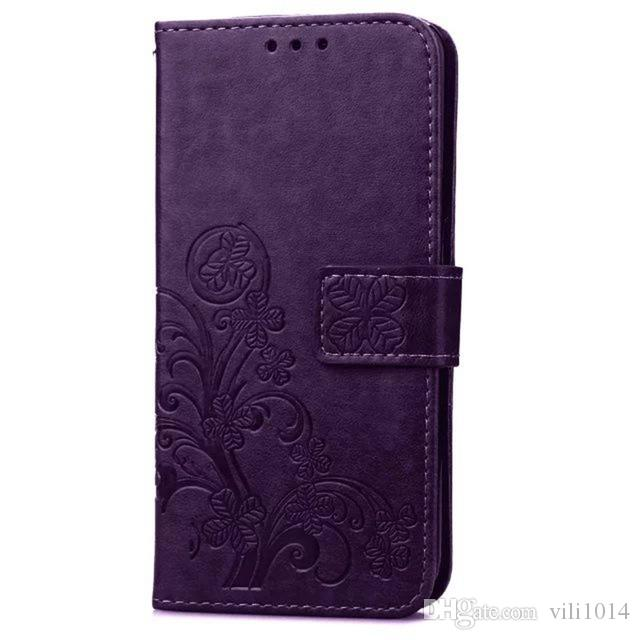 Four Leaf Clover Case for Samsung Galaxy Note2 Note3 Note4 Note5 Note6 Note7 cover with Flip Wallet Case Phone Coque Hoesjes PU Leather