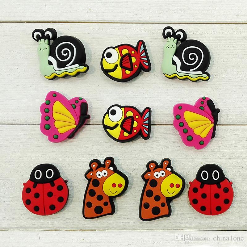 Animals PVC Shoe Charms Ornaments Buckles Fit for Shoes & Bracelets ,Charm Decoration,Shoe Accessories Party Gift