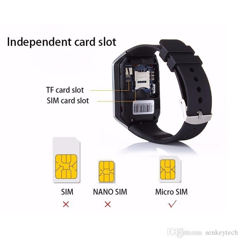 2016 New Smart Watch Phone DZ09 1.56'' Touch Screen Bluetooth Smartwatch DZ09 wrist watch With Camera and Sim Card Slot VS U8 M26 W8 GT08