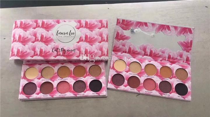 New Maquillage Ombre à paupières Laura Lee Los Angeles 10 couleurs Pyjamas de chat À venir bientôt