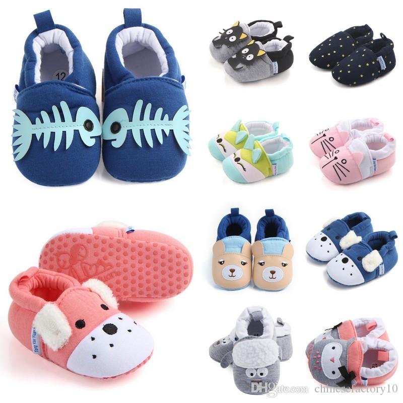 a59dfc5be19 2019 Baby Autumn Soft Sole Shoes Toddler Cotton Fabric First Walkers Baby  Boys Girls Cartoon Anti Slip Shoes From Chinesefactory10